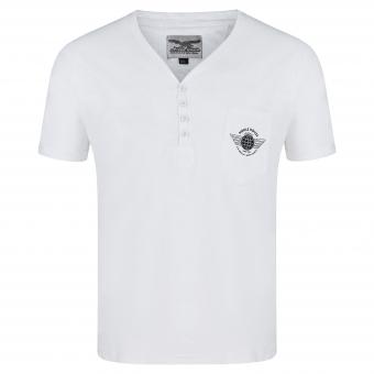 T-Shirt weiß Knopfleiste