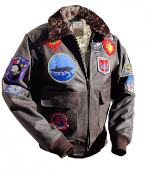 Специальное издание куртки G-1 Top Gun из бычьей кожи