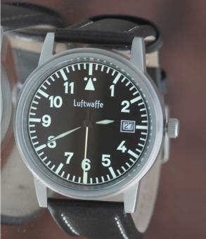 Luftwaffe Edelstahl-Fliegeruhr