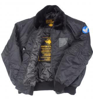 B-15 Nylon Bomber Jacket black
